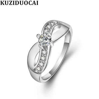 Zircon Stainless Steel Contortion Mask Kuziduocai New Fashion Jewelry Wedding Bride Party Rings For Women Anillos Mujer R-891 image
