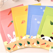 Creative Small Fresh /Lovely Creatures Envelopes Stationery Meng Pet Love Book Card Communication Letter 6 Paper + 3 Pcs