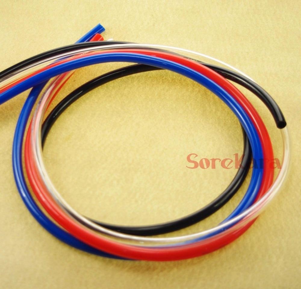 ПУ трубка O/D 4мм, 6мм, 8мм, 10мм, 12мм цвет прозрачный/синий/оранжевый/черный ПУ воздушный шланг трубы