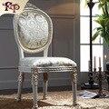 Estilo europeu móveis-cadeira de jantar de madeira maciça folha dourando
