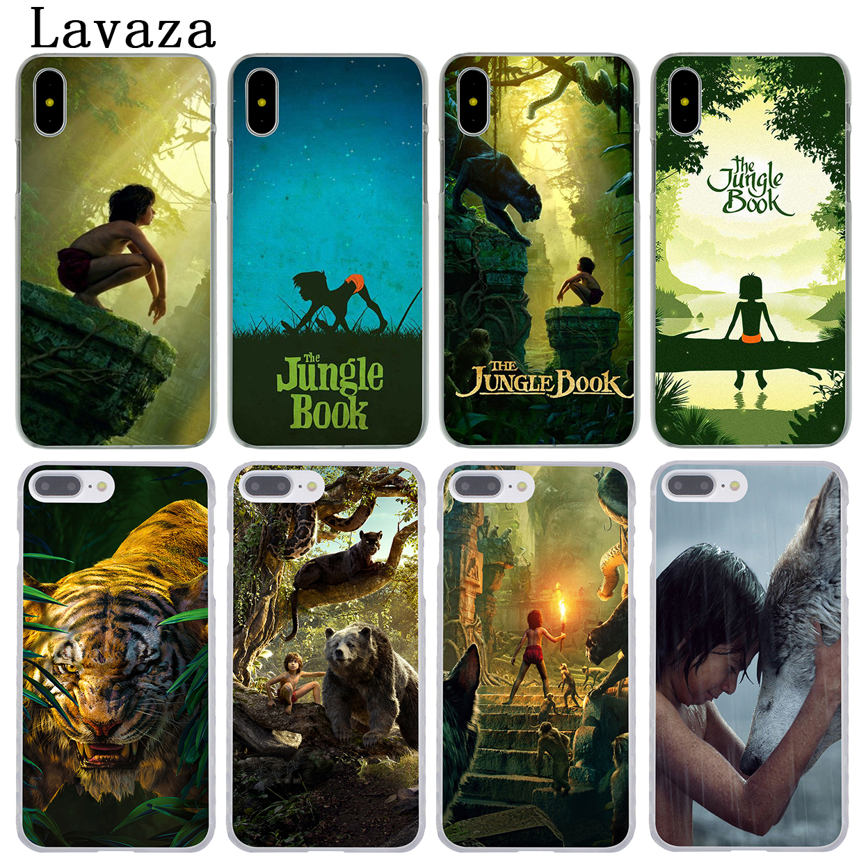 Lavaza The Jungle Book Hard Phone Coque Shell Case for Apple iPhone X 10 8 7 6 6S Plus 5 5S SE 5C 4 4S Cover