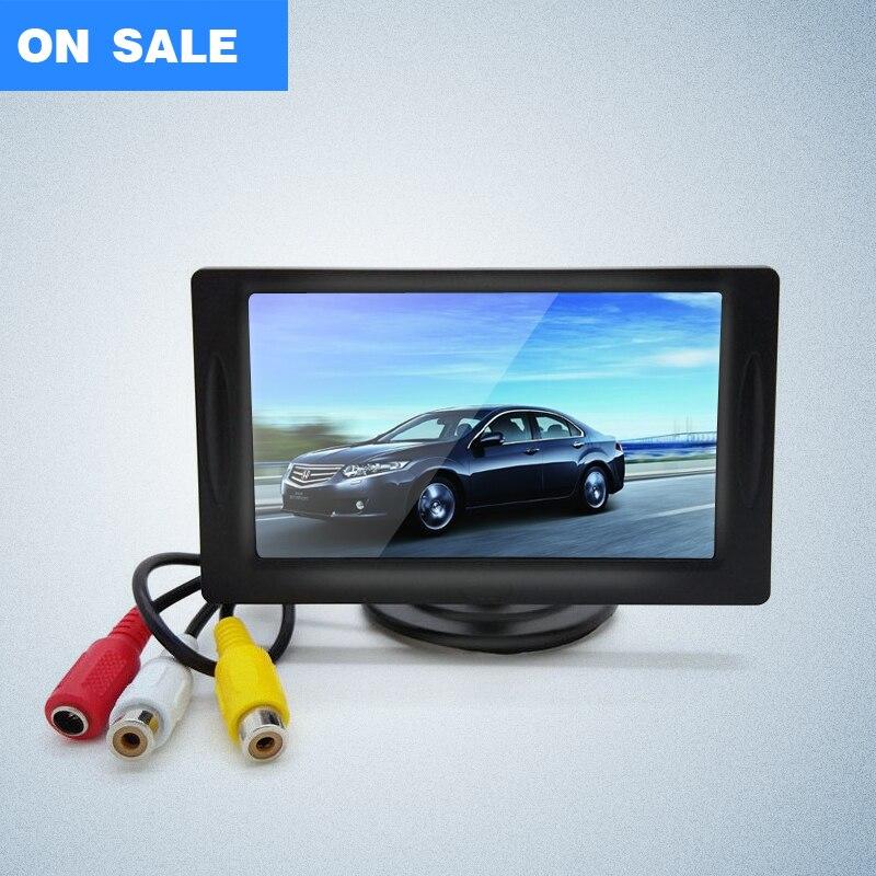 """imágenes para Envío libre 4.3 """" pulgadas TFT Color LCD Monitor del coche del coche que invierte el estacionamiento del Monitor"""