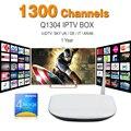 Q1304 Boc Ott Tv Box Tv Android Set Top Box Com um Ano de Apk Iptv Canais Indianos IUDTV Europa Completa 1300 Canais