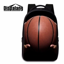 Dispalang basket ball campus casual bookbag for middle school students laptop back pack for teens customized backpacks day pack