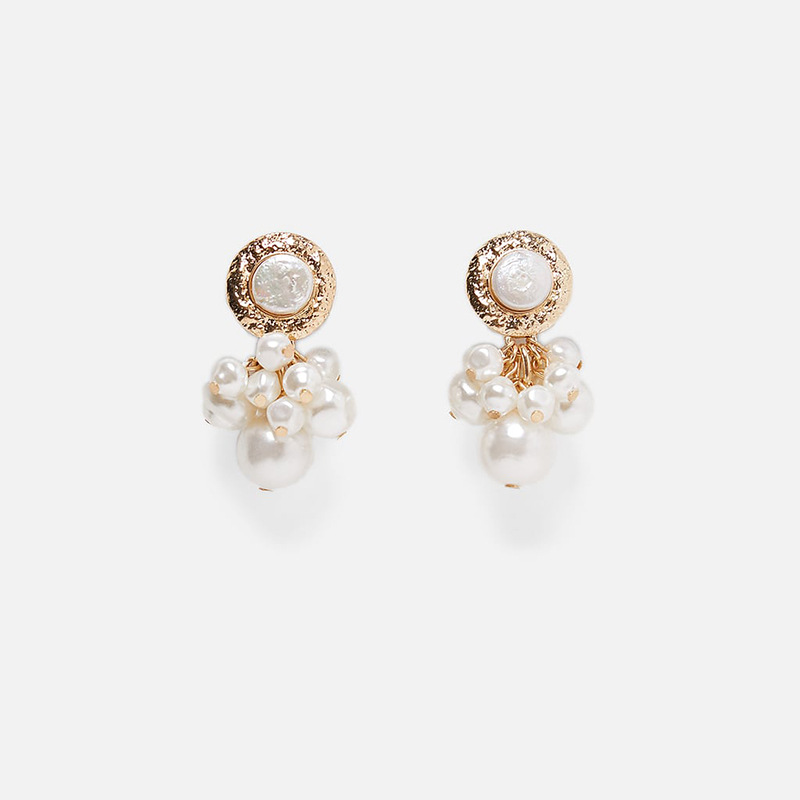 Korean Fashion Tassel Earrings Long Pearl Zircon Dangle Earrings for Women Ladies Light Luxury Trend Drop Earings 2019 Wholesale in Drop Earrings from Jewelry Accessories