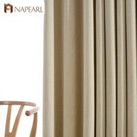 Наперл гостиная плотные шторы высокое затенение шторы для спальня обработки окна Дети сплошной дизайн шторы панель драпировки