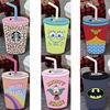 Krusty Spongebob Batman Wonder Woman Unicorn Tears Starbuck Coffee Slushie Straw Cup Silicone Phone Case for iPhone 5S 6S 6Plus
