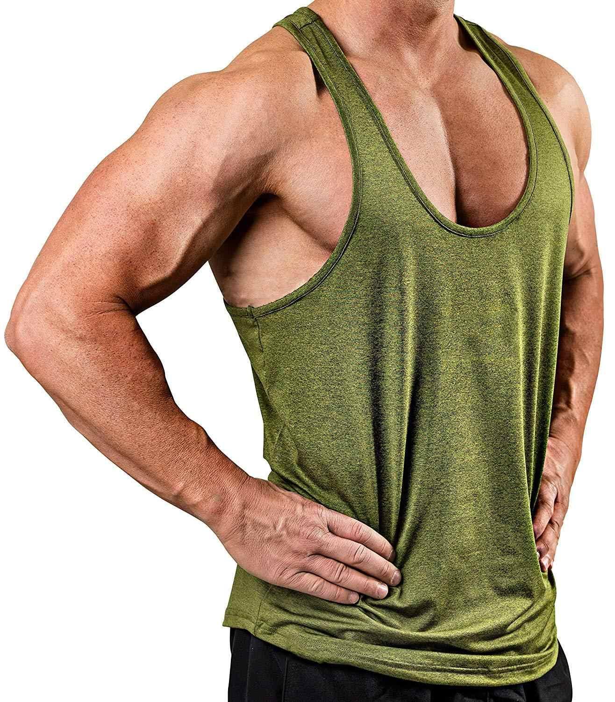 새로운 피트니스 의류 빈 민소매 망 체육관 스트링거 탱크 탑 보디 빌딩 탱크 탑 남성 운동복 언더 셔츠 패션 조끼