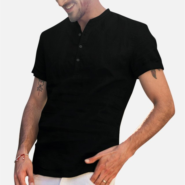 Men's Baggy  Short Sleeve Shirts