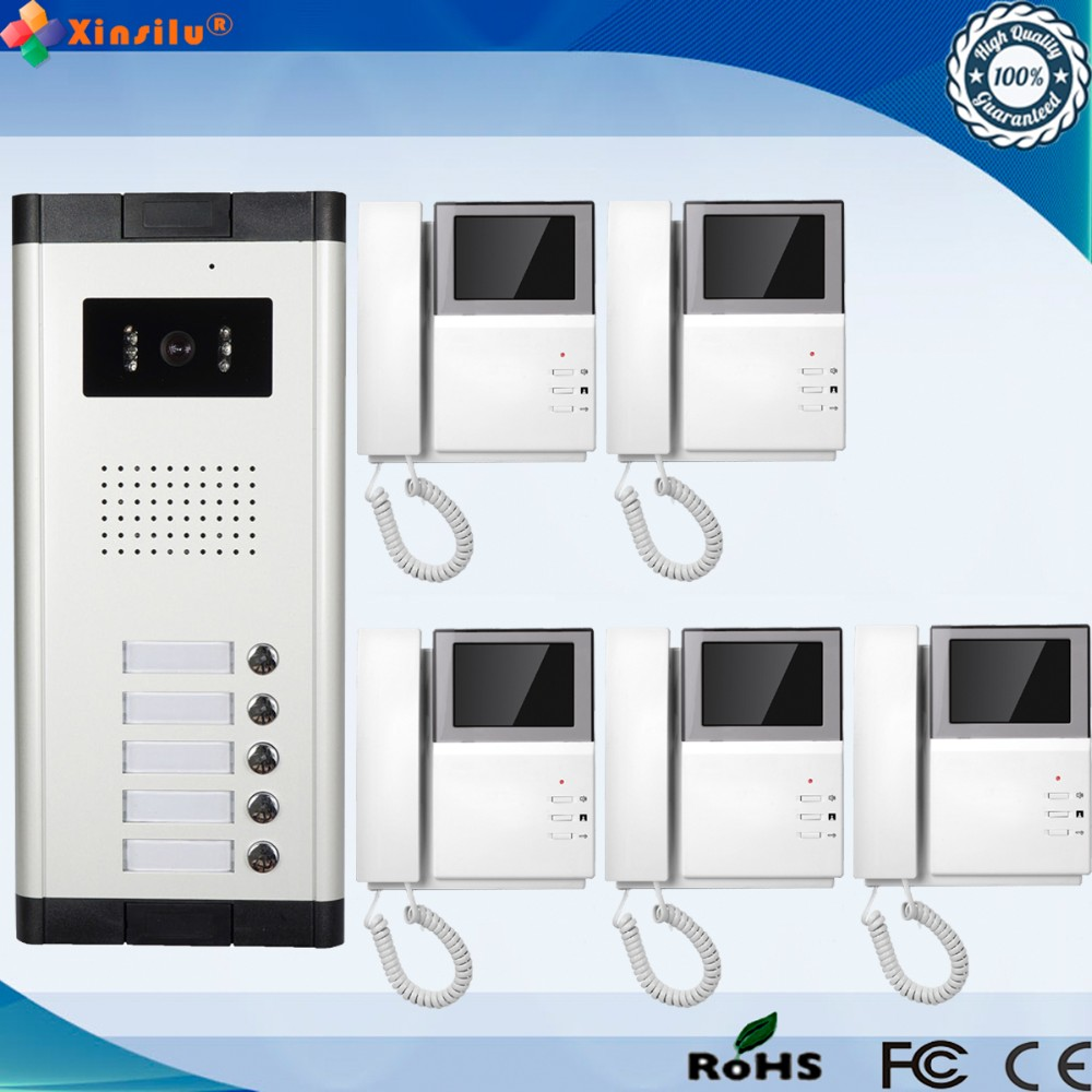 4.3 Inch  Wired Intercom Video Door Phone With 5 Monitor 4.3 Inch  Wired Intercom Video Door Phone With 5 Monitor