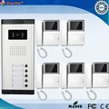 4.3 Inch  Wired Intercom Video Door Phone With 5 Monitor