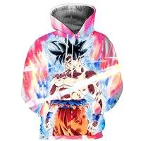 Cloudstyle 2018 3D Goku толстовка с капюшоном пуловер с героями мультфильмов толстовки длинный рукав Dragon Ball куртка тонкие спортивные костюмы плюс раз