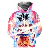 Cloudstyle 2018 3D Goku Hoody Sweatshirt Cartoon Pullover Hoodies Long Sleeve Dragon Ball Jacket Thin Tracksuits Plus Size 5XL