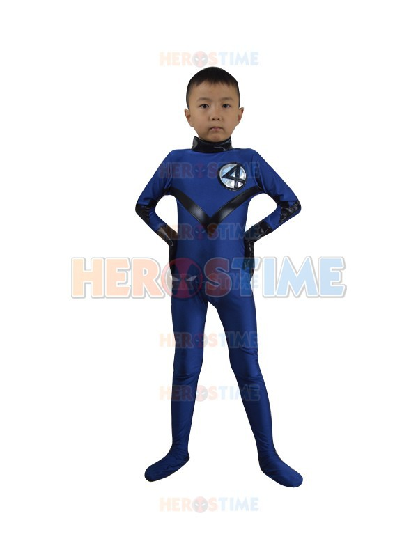 Kids/Children Fantastic Four Costume Hot Sale Halloween Cosplay Party Spandex Kids Superhero Team Costume  Free Shipping