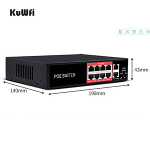 Image 3 - 48V POE Network Ethernet Switch 10/100Mbps 8 Ports Switch Injector For IP camera Wireless AP Mining Equipment