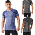 Gymshark Men New Fashion Shirt The short sleeve Neck Slim-Fit Blue Striped T-SHIRT Top Man Tee Plus Size Free Shipping WT01