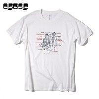 FM3 художников сотрудничества футболка трафаретной печати Футболка китайский техно Великой группы мужчин elseisle бренд 100% хлопок Мужская футб...