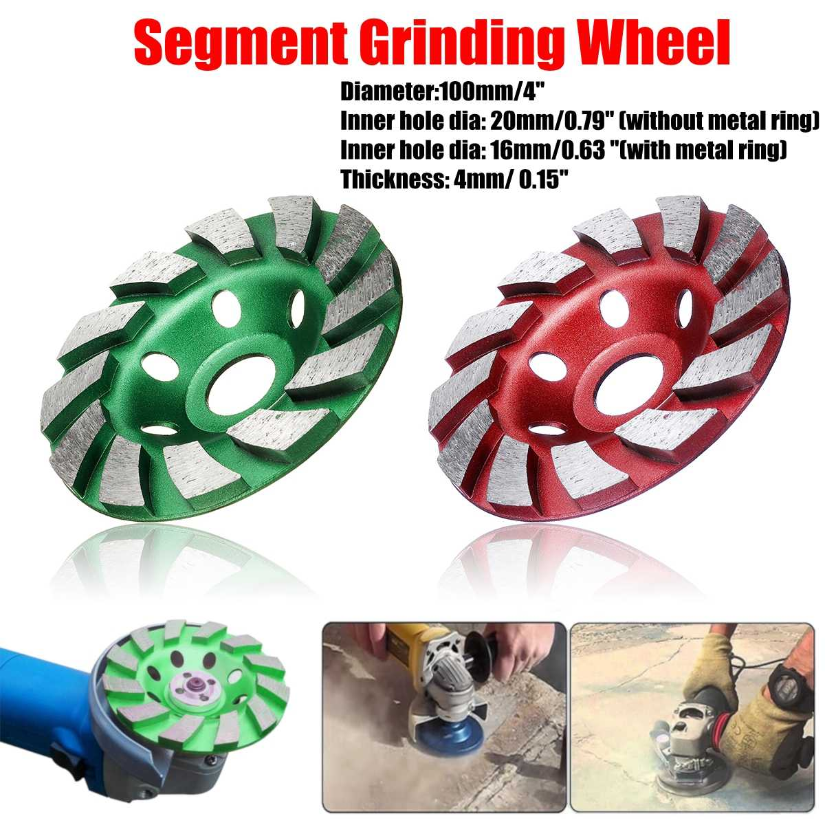 100mm/4 Inch Diamond Grinding Wheel Disc Bowl Shape Grinding Cup Concrete Granite Stone Ceramics Tools