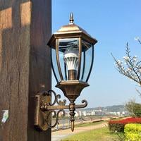 Europeu ao ar livre lâmpadas de parede ao ar livre terraço lâmpada grande exterior lâmpada parede à prova dwaterproof água led villa cerca lu627103 zl393