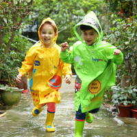 Long Hooded Raincoat Waterproof Kid Poncho Regenponcho Regenmantel Travel Rainwear Children Impermeable Raincoat Clothing JKR098