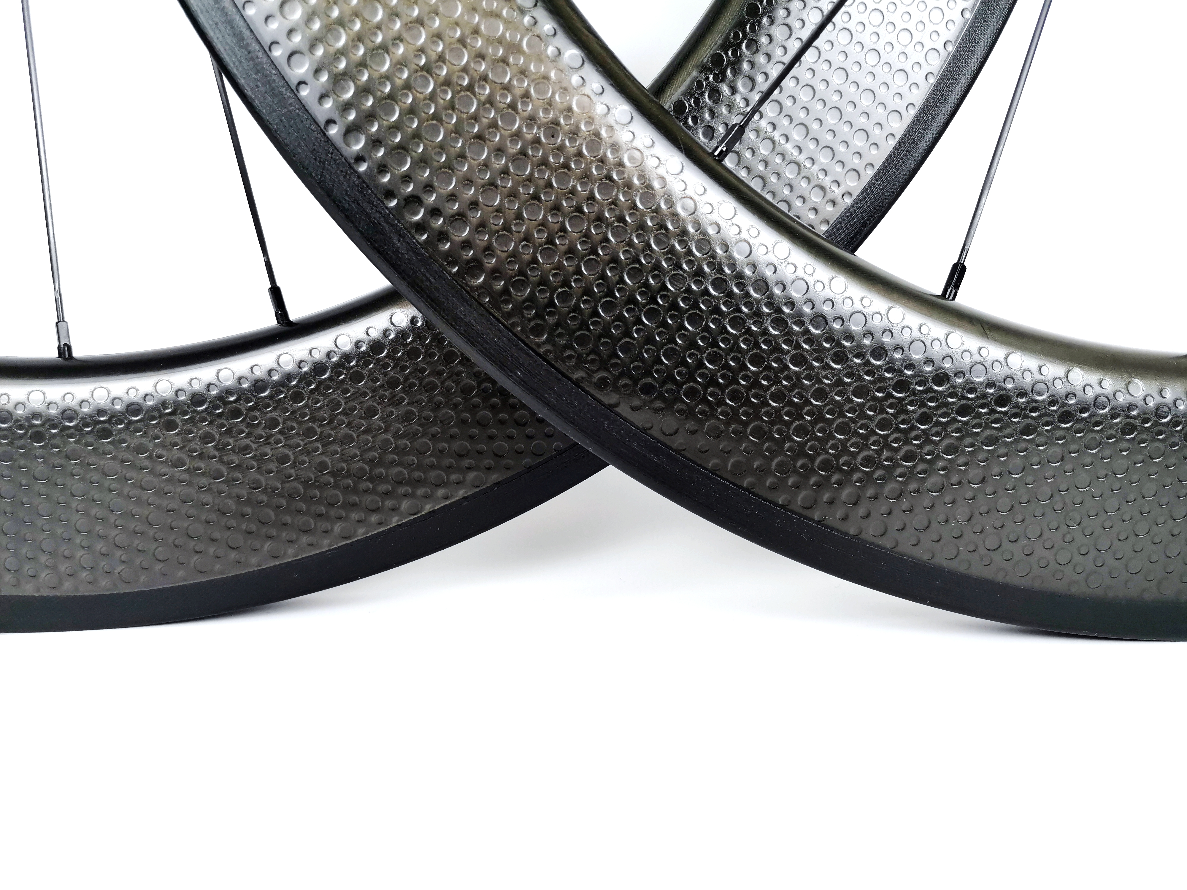 only one piece 80mm tubular carbon fiber bicycle rim Dimple finish,25mm width