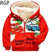 New 2016 Autumn Winter Cute Cartoon Cars Kids Hoodies Casual Children Clothing Unisex Coats Boys Girls Sweatshirts For 2-8 Years