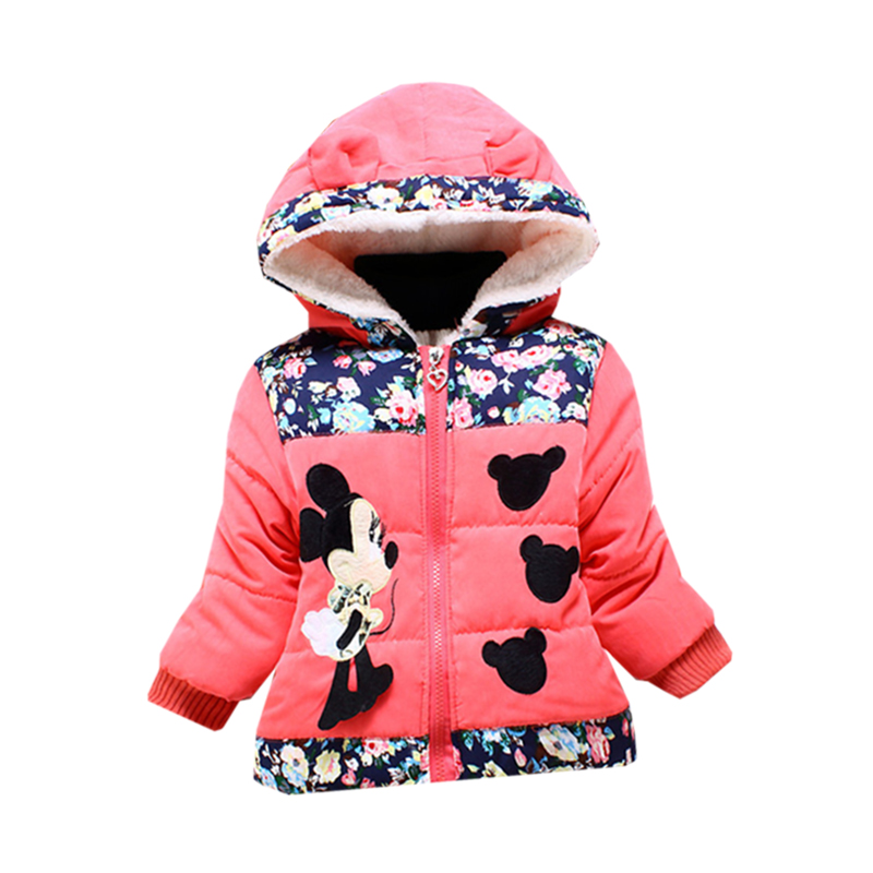 2019 Baby Boy Girl Clothes Cotton Coat Cartoon Small Squirrel Jacket Plus Velvet Warm 2 4 Years Old Beibei Quality Clothing in Down Parkas from Mother Kids