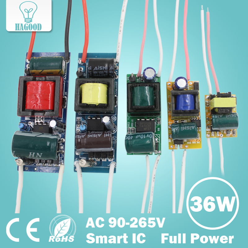 1pcs 1-36W LED Driver Input AC 85-265V Lighting Transformer Constant Current 300mA Power Supply Adapter for Led Lamps/Spotlight waterproof 12w led constant current source power supply driver 85 265v