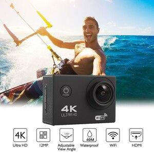 Image 3 - F600 F600R 4K Wifi kamera akcji 16MP 170D Sport DV 30M 1080P przejść wodoodporny Pro ekstremalne sporty wideo rower kask kamera samochodowa Dvr