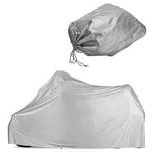 Водонепроницаемый мотоцикл гараж брезент мотоцикл крышка 246*105*127 см/Размеры XL Серебряный