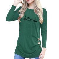 2018 Novo Botão de Impressão Da Pata Do Cão Do Gato Topos T-Shirt Das Mulheres Harajuku Safra Primavera Femme Mulher Maravilha Do Tumblr BTS T Camisa