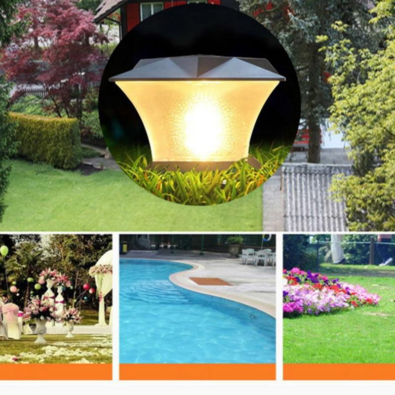 Светодиодный солнечный пост свет открытый IP65 водонепроницаемый супер яркий Солнечный свет крышка забор сад вилла декоративный фонарь двор