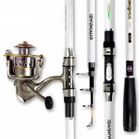 High Quality Portable Telescopic Bestsellers Carbon Fishing Rod 2.1m 4.5m Fiberglass Outdoor Bait Fishing Rod sale