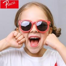 Psacss Round Vintage Polarized Kids Sunglasses For Girls Boys Childrens Cute Silicone Frame Brand Sun Glasses Gafas Infantil