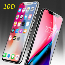 10D Full Cover Protection Glass For iPhone 7 XR XS Max Tempered X 8 6 Plus Screen Protector film
