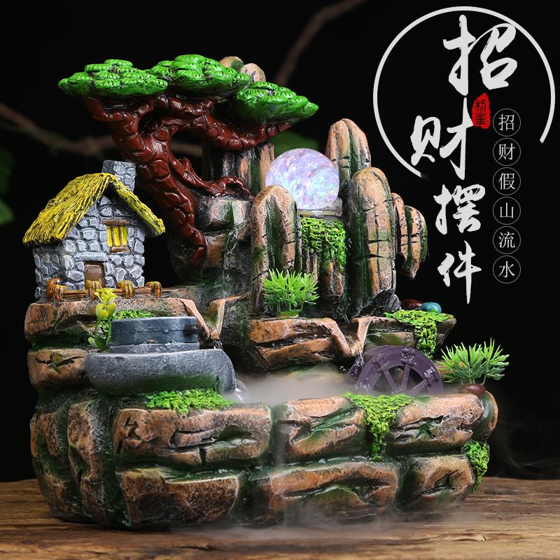 chino feng shui artesana cm resina fuente de agua de interior adornos de escritorio