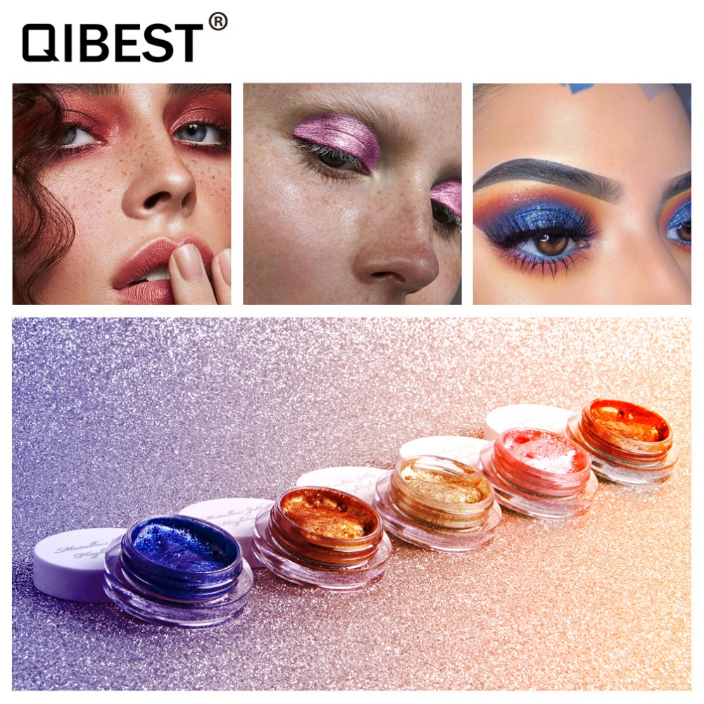 Pudaier Shimmer Eyeshadow Powder 3.5g Waterproof Long Lasting Diamond Gold Brown Blue Metallic Eyeshadow Pd038 Eye Shadow