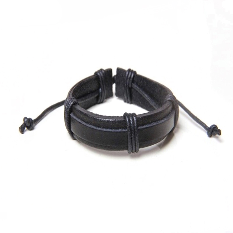 JINSE Adjustable Vintage Men's Ladies Twist LeatherBracelet Gifts For Male Boys Leather Bracelet Pulseira Decouro PSL348
