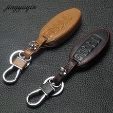 jingyuqin 5BTN Leather Key Case For Nissan Altima Maxima Infiniti EX FX G37 Q60 QX50 QX70 Smart Keyless Entry Remote Fob Cover