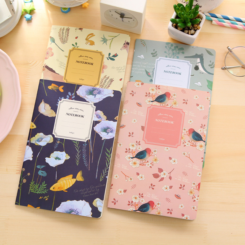 Kawaii Stationery Cute A5 Notebook 32 Side Notepad Diary Book Journal Rekord Kontor School Supplies Caderno For Kids Gaver