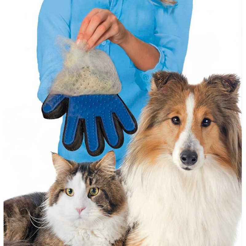 Yeni Pet köpek saç fırçası eldiven Pet temizlik masaj bakım tarağı kaynağı parmak temizleme Pet kediler saç fırçası eldiven hayvan