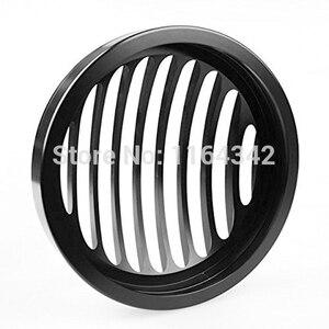 """Image 4 - 5 3/4 """"Kütük Alüminyum Ön Motosiklet Far ızgara kapağı için Harley Davidson Sportster XL 1200 883 04 ~ 14 Kafa aydınlatma koruması"""