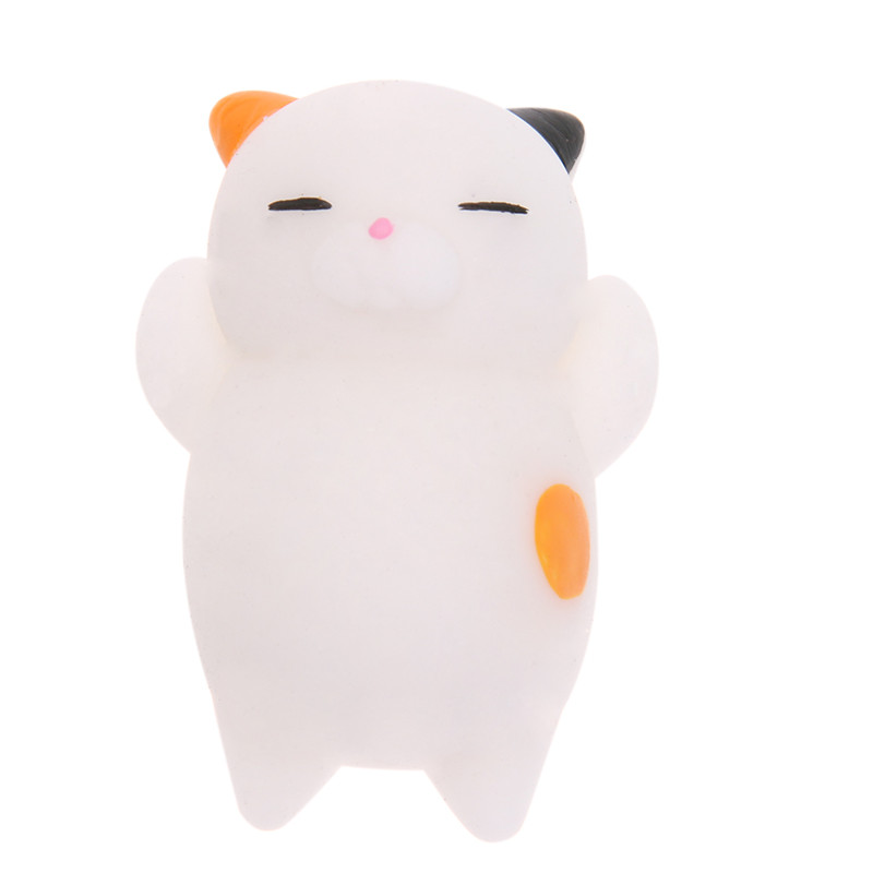 Mini Squishy Toy Cute Cat Scented Mochi Slow Rising Squeeze Toys Stretchy Cartoon Animal Stress Relief Toy Gift funny cute mini cartoon tpr animal jumbo squishy toy