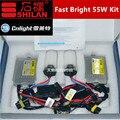 1 Unidades f5 55 w rápido hid kit con cnlight bulbo h1 h3 h7 H11 9005/6 880 kit de inicio rápido fast brillante hid xenon blanco 3000 K-8000 K hid