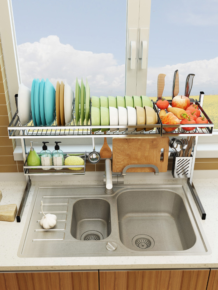 Stainless Steel Kitchen Rack Sink Drain Rack Dish Dish