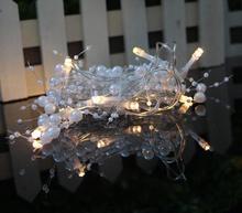 Новое праздничное освещение 2 м 10Led светодиодная гирлянда батарейный блок декоративная светящаяся гирлянда огни