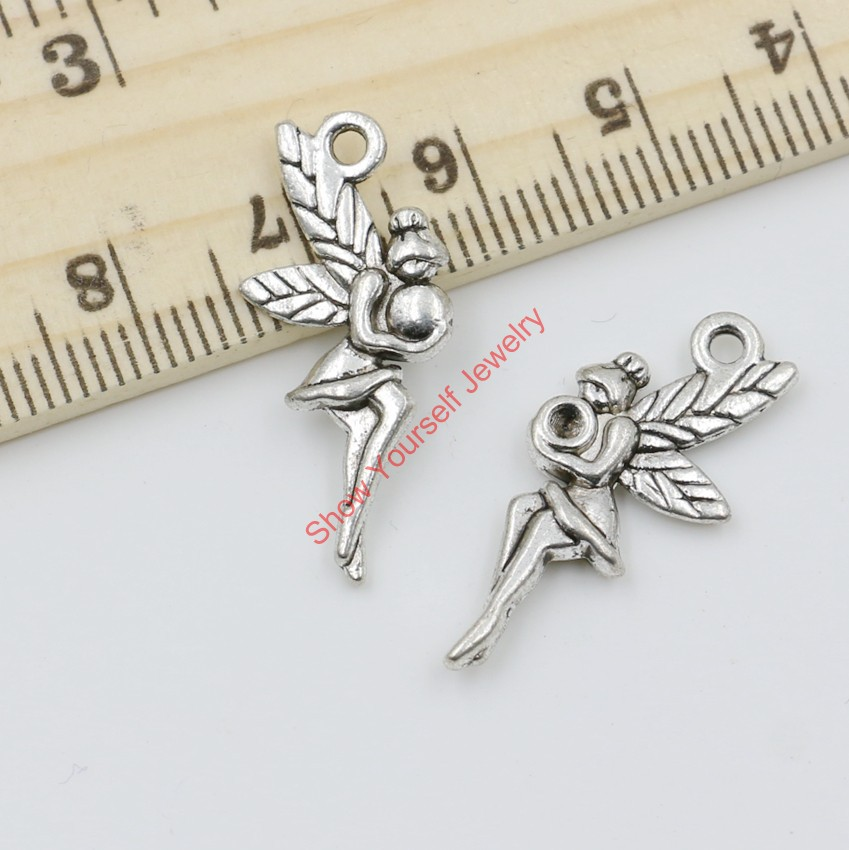 Jakongo antique silver plated fairy charms beads pendants for jakongo antique silver plated fairy charms beads pendants for jewelry making diy handmade 26x12mm on aliexpress alibaba group mozeypictures Images