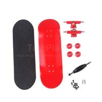 Canadian Maple Red Fingerboards Professional Wood Finger Skate Boards Nickel Bearing Finger Skateboard Birthday Gift