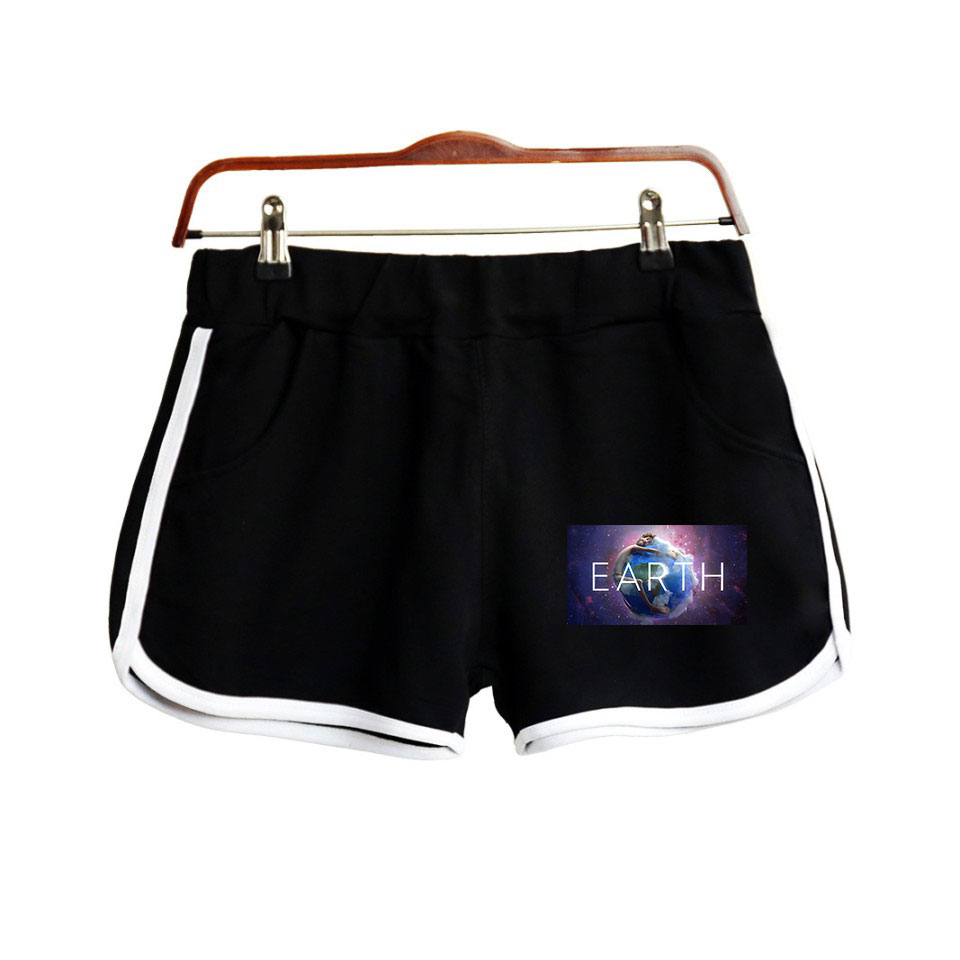 2019 Shorts LIL DICKY Earth 2D Print Women Clohtes 2019 Hot Sale Casual Harajuku Ladies Summer Sexy Summer Shorts K-pops Plus