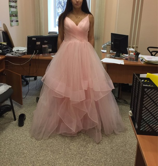 Romantic White Front Floor-Length Wedding Dress Bridal Dresses Straps Tulle Zipper Back with 30cm tail Vestido De Noiva